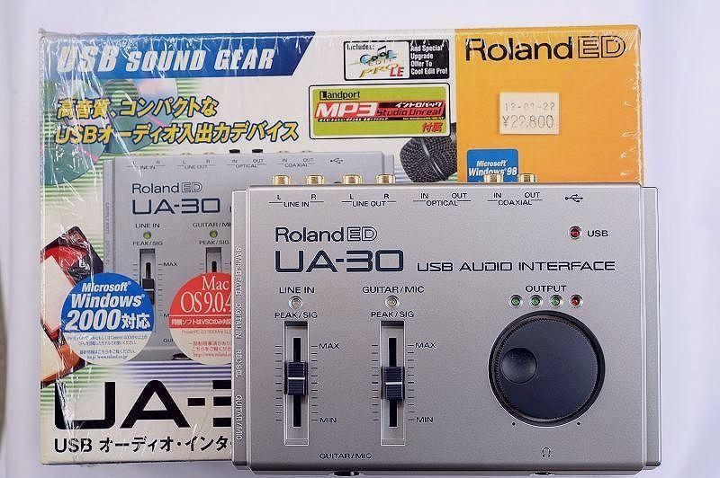 Roland ローランド USBオーディオインターフェイス UA-30(極美中古)
